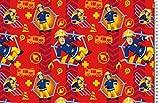 Jersey Disney Feuerwehrmann Sam rot blau Digitaldruck 1,5m Breite