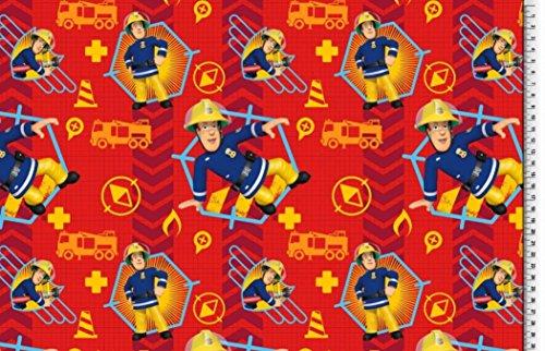 feuerwehrmann sam meterware Jersey Disney Feuerwehrmann Sam rot blau Digitaldruck 1,5m Breite