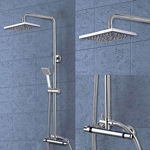 Generic NV _ 1001002055_ yc-uk2E tapuar Thermostat Kopf Badezimmer Badewanne ostat Dusche Mixer Bar OWER quadratisch Twin Head Bar Ventil Tippen WE - Twin Tippen