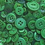 Knopfsortiment aus Acryl / Kunstharz, für Karten und Verzierungen, dunkelgrün, 100 g-Beutel