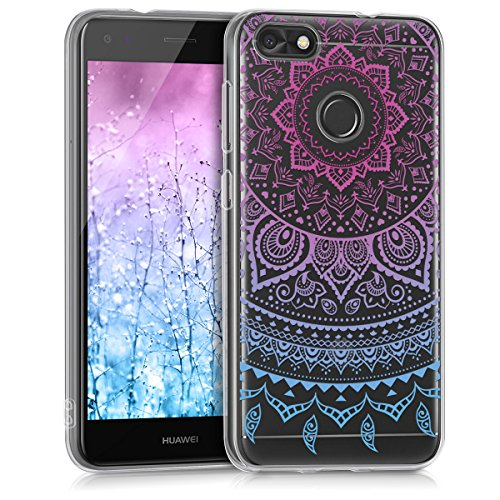 kwmobile Huawei Y6 Pro (2017) / Enjoy 7 Hülle - Handyhülle für Huawei Y6 Pro (2017) / Enjoy 7 - Handy Case in Blau Pink Transparent