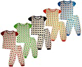 #2: Kids Girls nightwear/sleepwear top and Bottom in multi color Pack of 5