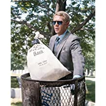 The Thomas Crown Affair con Steve McQueen 10x 8fotografía de promoción cool en azul Persol Gafas de sol