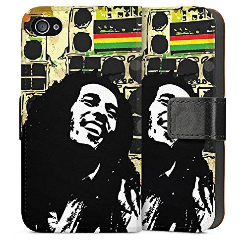 Apple iPhone 5s Housse étui coque protection Bob Marley Reggae Jamaïque Sideflip Sac