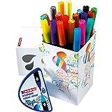 Edding Colour Happy Big Box - juego grande de 20 +1 mezclador colores graduales - colores brillantes y delicados - diarios de