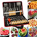 Bluelover 80Pcs Portable Vegetable Fruit Food Chef Burin Carving Chiseling Tool Kit With Bag from Bluelover
