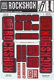 RockShox Aufklebersatz Boxxer/Domain Doppelkrone, 11.4318.003.518 Ersatzteile, Rot, 35mm Standrohre und Doppelbrücke