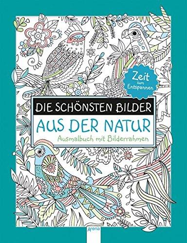 Preisvergleich Produktbild Die schönsten Bilder aus der Natur. Ausmalbuch mit Bilderrahmen: Zeit zum Entspannen: