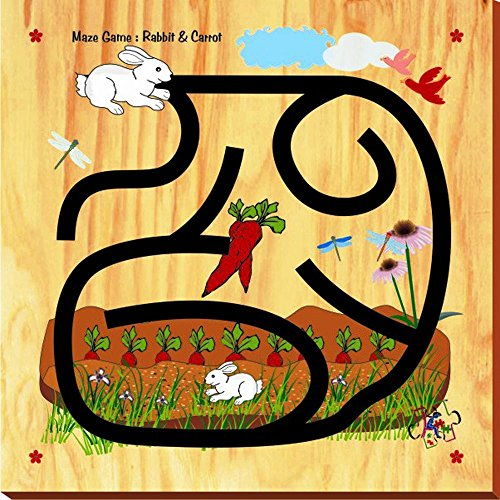 Kinder Creative Rabbit and Carrot Maze Game, Brown