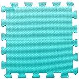 ZZYY Weiche EVA-Schaummatten Baby Kinder Spielmatte Reine Farbe Puzzlespiel Matten Bodenpuzzle Jigsaw Mat (40tlg, Blau Grün)