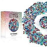 Vari colori Iridescent Cosmetic Glitter Sequin per il corpo del chiodo del viso, brillante trucco Glitter Paillette per il festival di musica Masquerade Halloween Party Ball di Natale - Y2