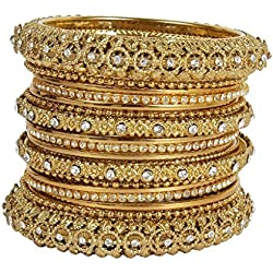 Muchmore 22K Gold Plated Bangle Set For Women