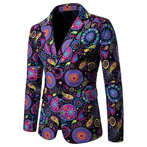 KPILP Strickjacke Herren Sakkos Dashiki Jacke Mode Casual Daily 2018 Neue Printed Suit Winterjacke Langarm Gedruckt Mantel Herbst Winter -
