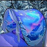Tente de Rêve Tente de Lit Enfants Tente Playhouse de Tente Apparaitre Intérieure Enfant Jouer Tentes Cadeaux de Noël pour Enfants (Merveilles d'Hiver)
