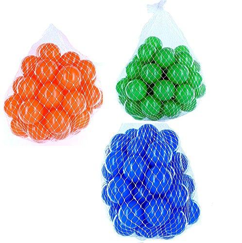 150 Bälle für Bällebad gemischt mix mit blau, grün und orange