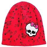 erdbeerloft- KIDS Mädchen Monster High Mattel Winter-Mütze, Patch, Alter 2-3, pink-rot