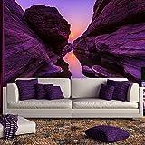 azutura Lila Schlucht Wandbild Berg Sonnenuntergang Foto-Tapete Schlafzimmer Haus Dekor Erhältlich in 8 Größen Riesig Digital
