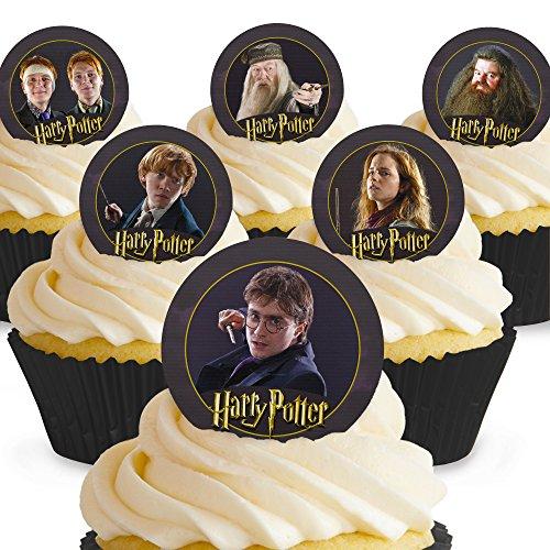 und Essbare Harry Potter Kuchen Topper (Tortenaufleger, Bedruckte Oblaten, Oblatenaufleger) ()
