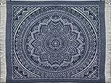 Antilo - Plaid MENPHIS 150x200 Cm - Color Azul (Foulard Multiusos complemento decoración Cama y sofá en Dormitorio y salón)