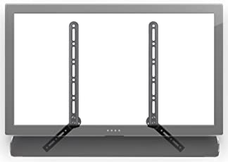 Mount-It! Soundbar Bracket Universal Sound Bar TV Mount For Mounting Above or Under TV, Fits Sonos, Samsung, Sony, Vizio, Adjustable Arm Fits 23 to 65 Inch TVs, 33 Lbs Weight Capacity Black (MI-SB41)