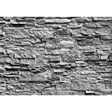 Fototapete Steinwand 396 x 280 cm - Vlies Wand Tapete Wohnzimmer Schlafzimmer Büro Flur Dekoration Wandbilder XXL Moderne Wanddeko - 100% MADE IN GERMANY - 9082012c