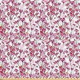 ABAKUHAUS Kirschblüte Stoff als Meterware, Sprudelnde
