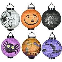 6 diverse lanterne di Halloween LED a
