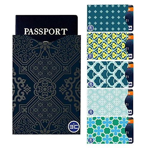 I3C 5 Fundas Tarjetas Crédito 1 Funda Pasaporte RFID