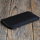 BlackBerry KEYone Cover schwarzes Leder Etui Hülle Tasche Case