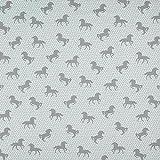Fabulous Fabrics Dekostoff Ottoman Grafische Pferde - grau