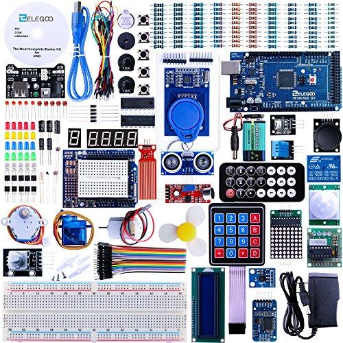Elegoo Mega 2560 Project The Most Complete Ultimate Starter Kit w/ TUTORIAL, MEGA 2560 controller board, LCD1602, Servo, Stepper Motor for Arduino Mega2560 Nano