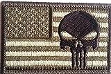 b2see Militär Punisher Aufnäher Bügelbild Aufbügler Iron on Patch Flicken Applikation für Stoff Kleidung zum aufbügeln US Army Forces Style 7,8 cm