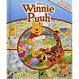 Disney Winnie Puuh - Verrückte Such-Bilder - Pappbilderbuch mit Suchaufgaben auf 18 Seiten - Wimmelbuch für Kinder ab 18 Monaten