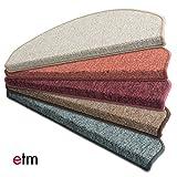 Kit de 15 marchettes d'escalier etm® 23x65cm | couleurs diverses - qualité supérieure | autocollantes | rouge foncé...