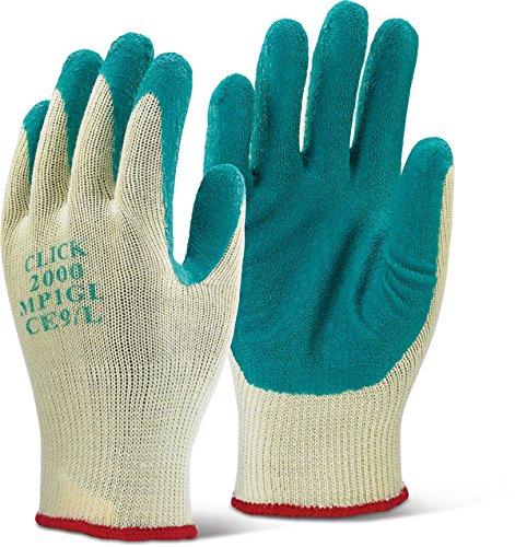 Multi Purpose gants en Latex avec revêtement en polyester Vert 10 m