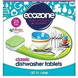 Ecozone Classico Tutto In Uno Schede Lavastoviglie 25 Per Confezione - (Confezione da 4)