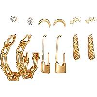 Jewels Galaxy Gold Plated Hoops Earrings Combo For Women/Girls