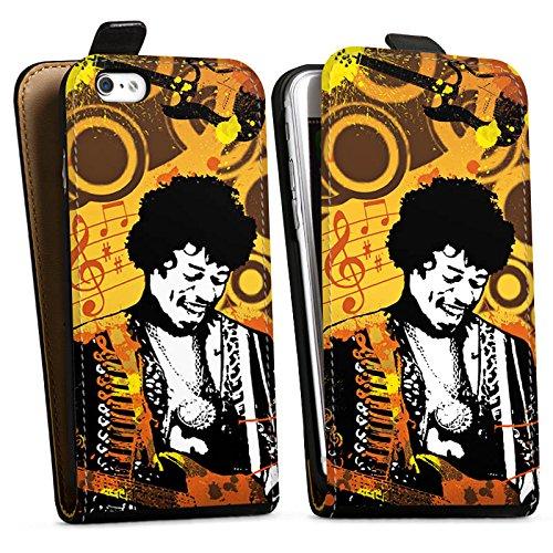 Apple iPhone X Silikon Hülle Case Schutzhülle Musik Jimi Hendrix Gitarre Downflip Tasche schwarz