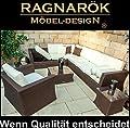 PolyRattan - DEUTSCHE Marke - EIGNENE Produktion - 8 Jahre Garantie Lounge Garten Möbel Glas Polster Ragnarök Möbeldesign BRAUN Rostfrei Sofa