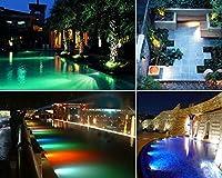 Amzdeal® 36 LED Multicolore Spot Led Submersible Ampoule /Lampe LED Etanche Submersible Projecteur Lumière Extérieur pour Aquarium Piscine Etang Jardin-lumière Subaquatique ou par Terre
