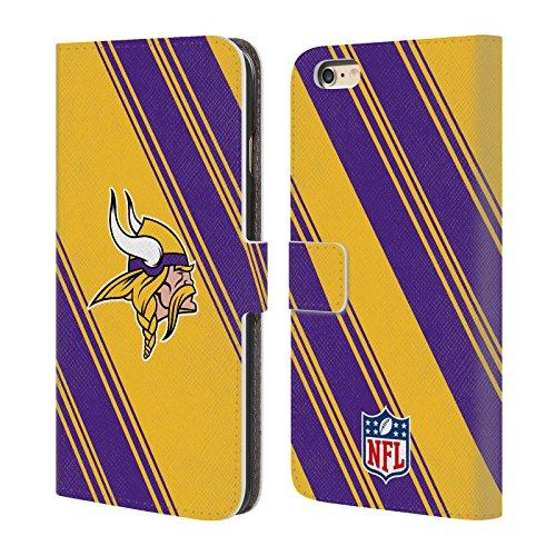 Ufficiale NFL Righe 2017/18 Minnesota Vikings Cover a portafoglio in pelle per Apple iPhone 6 / 6s Righe