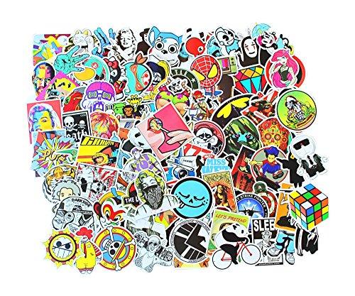 Preisvergleich Produktbild 100 STK Stickerbomb Gaming Motive wie abgebildet Aufkleber farbig Auto Skateboard Helm Laptop Gepäck Decals