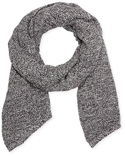 PIECES Damen Schal Billi Scarf 13, Einfarbig, Gr. One size, Grau (Whitecap Gray Detail:WITH BLACK)