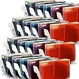 20x Druckerpatronen-Set Mit CHIP für Canon Pixma IP 4500 X (je Farbe 4 Patronen) - mit Chip kompatibel für IP4500X, 4x26ml, 6x13ml