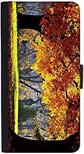 Snoogg Brown Leaves In Trees Designer Protective Phone Flip Back Case Cover For Xiaomi Redmi Note 3