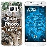 PhoneNatic Case für Samsung Galaxy S6 Silikon-Hülle zum selber gestalten Custom Case clear
