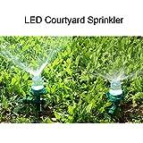 Behavetw Multicolor LED Automatische Wasser Sprinkler, Garten Outdoor Bewässerung Düse für Innenhof Rasen Bewässerung Spritze System