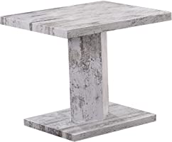 Jiwa Berani Jodi Side Table, Off White - 45H x 45W x 45D cm