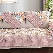 SANDM Antideslizante Algodón Funda Protector de Sofa, Impresión Flores Sofá Acolchado Combinación Venta de Toalla