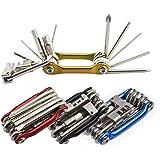 Senven 11 en 1 Multifunción Bicicleta Reparacion Herramientas, Multiusos Bici Herramientas, Mini Plegables Herramientas, Mant